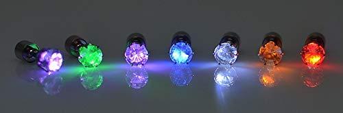 Kostüm Frau Cyber - TONVER LED-Ohrringe, 1 Paar, Edelstahl, leuchtende LED-Ohrringe für Tanzpartys, Accessoires für Frauen und Mädchen bunt