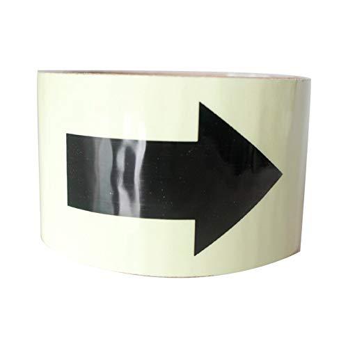 1m Leuchtband mit Pfeilen Selbstklebende Fluoreszierende Glow In The Dark Sicherheitswarnband wasserdichte Streifen Aufkleber - Grün & Schwarz