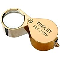 nicebuty oro 30 x 21 mm Jewelers Ojo lupa plegable lupa reparación de relojes de cristal