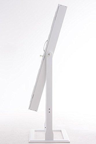 CLP Schmuckschrank Standspiegel BONITA, Bilderrahmen integriert, viele Steckplätze + Haken für Schmuck & Accessoires Weiß - 4
