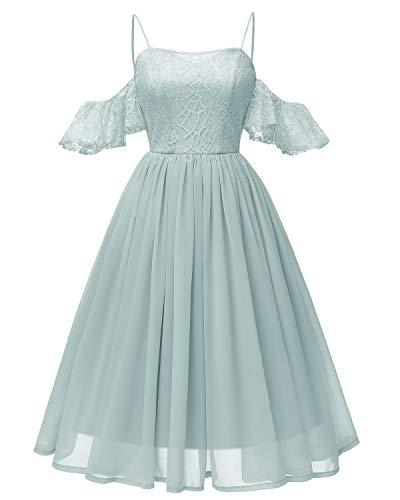 Festlich Kleid Damen Elegant für Hochzeit Cocktailkleid Abendkleid Brautjungfernkleid Ärmellos...