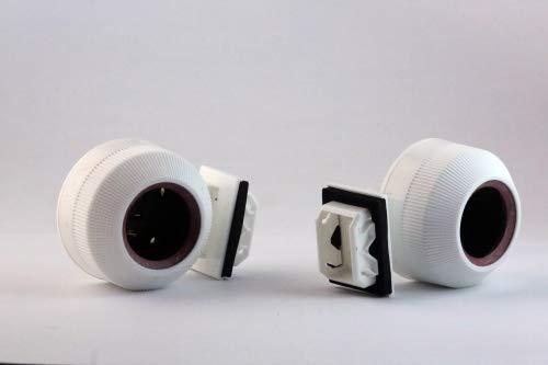 AquaFert Feuchtraumfassungen für T5 Leuchtröhren - Spritzwassergeschützt nach IP 67 Fassung mit Steckfuß - T5 Fassung