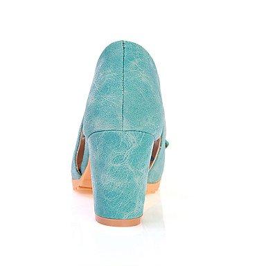 Talloni delle donne Primavera Estate Autunno Altro similpelle ufficio & carriera di feste ed abito da sera tacco grosso Bowknot Blu Rosa Beige Blue