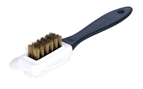 <span class='b_prefix'></span> Kaps outstanding Nubuck and Suede Multifunctional 4-Sided maintanence Shoe Brush, Brass Bristle, Cleans and Gives most suitable Nap