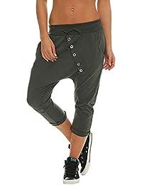 HaiDean Pantalon Court pour Femmes Baggy 3 Capri 4 Boyfriend Chic Jeune  Pants Survêtement Pantalon Loose dfe36564309