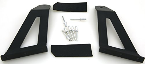 GS Power's Jeep 50 to 52 Curved LED Light Bar Mounting Brackets for 1984-2001 Cherokee XJ and 1986-1992 Comanche MJ 4WD/2WD. Mounts the Off-Road Work Lights at the Upper Windshield / Roof Cab. by GS Power -