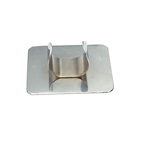 1PC Rechteck-Nagel-Kunst-Palette Ring Edelstahl Palettenberufs Diy Nail Art freihändige Palette Malen Sie Farbpalette Misch für die bequeme Nutzung