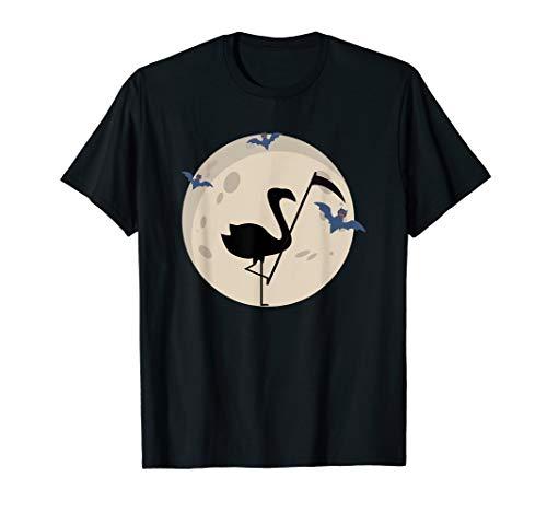 Kostüm Terror Night - Halloween Scary Dead Grim Flamingo Moon Horror Einfaches T-Shirt