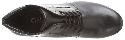 Gabor Mega, Damen Kurzschaft Stiefel Schwarz (Black Leather)