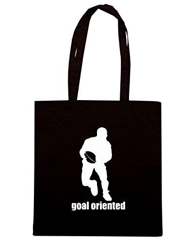 T-Shirtshock - Borsa Shopping TRUG0108 goal oriented rugby logo Nero