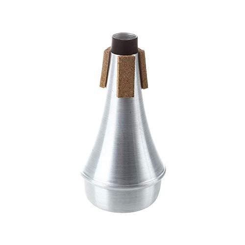 Goodplan Trompete Dämpfer Aluminium Trompete Schalldämpfer Tragbares Blasinstrument Zubehör für den täglichen Gebrauch 1 Stck (Aluminium-dampfer)