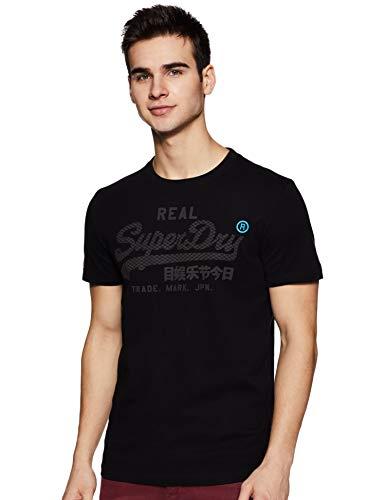Herren Vintage Schwarz T-shirt (Superdry Herren Vintage Logo Monochrome Tee T-Shirt, Schwarz (Black 02A), XL)