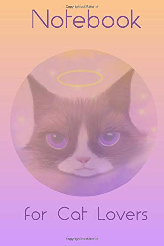 Cat Lovers Notebook: A useful journal with a cutely illustrated cover depicting an angelic kitten with a halo!  Each page has Subject and Date boxes to easily organize your notes. - Boy Crazy Girls T-shirt