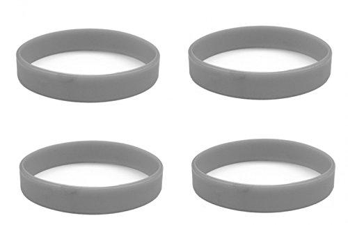 Beyond Dreams 4 Silikon Armbänder (4 Grau) für Damen Herren | Unisex Fitness Accessoire Silikonarmband | Powerarmbänder als Schmuck
