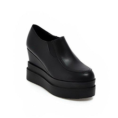 balamasa pour femme Imitation cuir à enfiler massif pumps-shoes Noir - noir