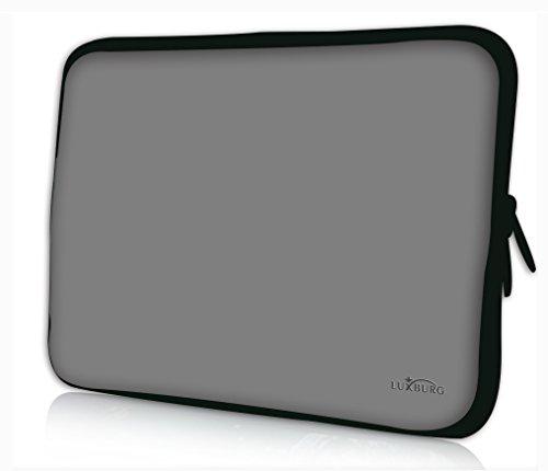 Luxburg® Design Laptoptasche Notebooktasche Sleeve für 13,3 Zoll, Motiv: Grau