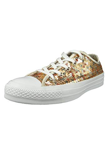 Converse Chucks Gold 562446C Chuck Taylor All Star OX Gold Light Gold White, Groesse:41 EU / 7.5 UK / 9.5 US