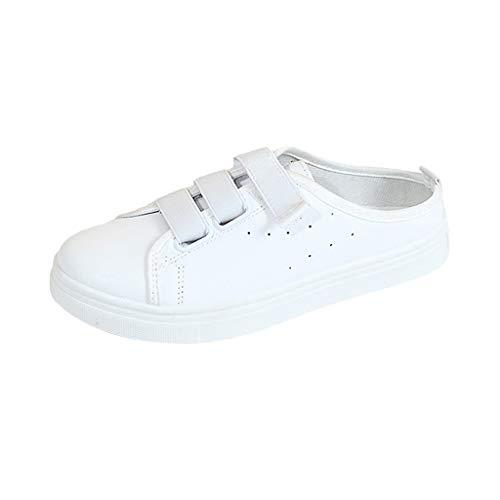 CUTUDE Damen Sommer Casual Wild Einfach weißen Schuhe Farbabstimmung Sport Fashion Lazy Schuhe Freizeitschuhe Studentenschuhe (Weiß, 39 EU)