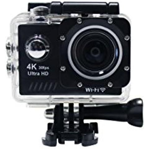 SMARTEX   ProCam Sport 4K@30fps WI-FI Waterproof Completa di Kit Accessori - Action Camera alta definizione 12MP Ultra HD 4K / 30 fps 2,7K / 30 fps 1080p / 60 - 30 fps Videocamera - Sci Scuba Diving Sport Estremi
