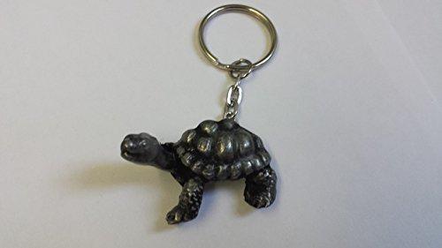 Schildkröte, Zinn-Effekt, 3D Emblem auf eine getrennte Schlüsselanhänger, handgemacht (Schlüsselanhänger Charm Lover Dog)