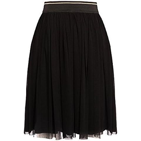 Motivos: falda de mujer midi con detalles de lurex