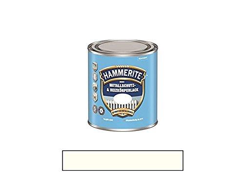 500 ml Hammerite Metallschutz & Heizkörperlack Innen Cremeweiss RAL 9001, Matt