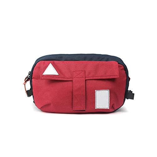 Preisvergleich Produktbild YWJFASHION Brusttasche Männer Und Frauen Leinwand multifunktions Rucksack Sport Reiten Lässig Große kapazität Mode Kontrast Farbe Umhängetasche