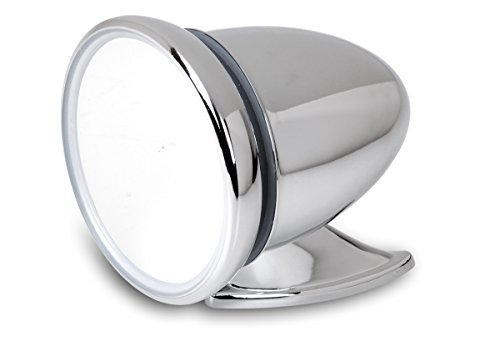 Preisvergleich Produktbild Universeller Oldtimer Außenspiegel - Chrom - 1 Stück passend für Fahrer- und Beifahrerseite
