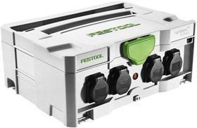 Preisvergleich Produktbild FESTOOL Systainer SYS-PowerHub IP44 mit 5 Steckdosen 396 x 296 x 157,5 mm, 1 Stück,200231