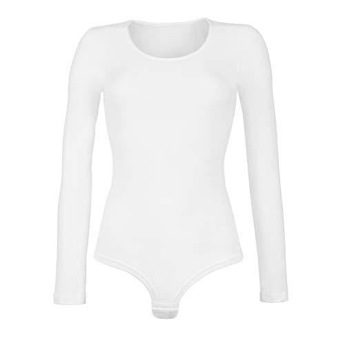 Cotonella 1 set da 2 body manica lunga in cotone bielastico. bianco quinta