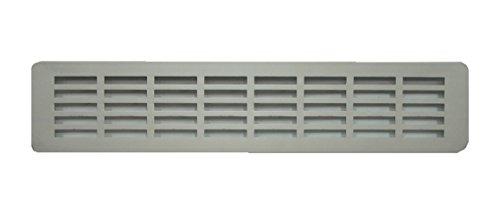 Griglia d'aria in alluminio per cucina, in alluminio anodizzato, griglia di ventilazione per zoccolo e per porta