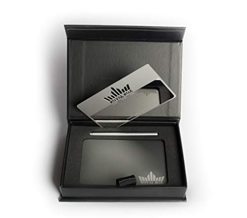Royal Box Dosificador de Rapé/Tabaco Kit/Sniffer Set con Tubo/Dispensador Snuff/Ibiza Titanium