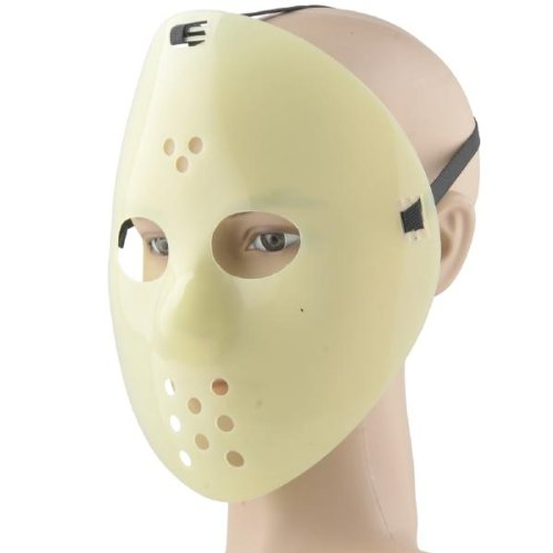 Jason Hockey Maske leuchtet im Dunkeln - Glow in the dark Halloween Maske