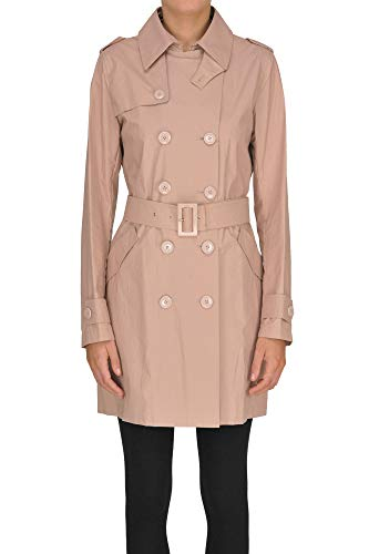 Herno Cotton Trench Coat Woman Cipria 40 IT -