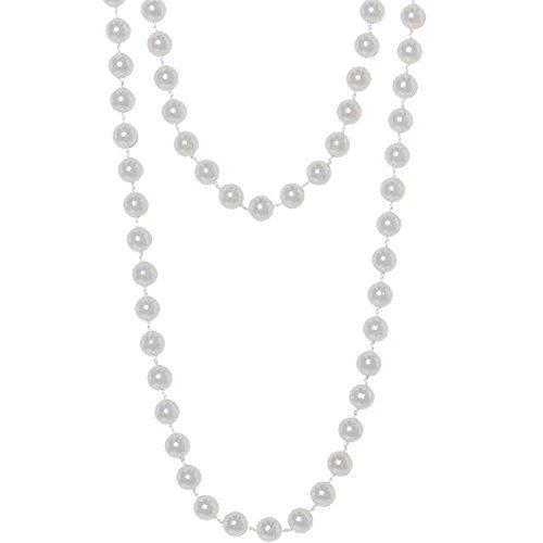 Jahre 20s Flapper Perle Perlen Halskette Charleston Coco Great Gatsby Charleston Kleid Kostüm Outfit Accessoire (Roaring 20s Flapper Kostüm)