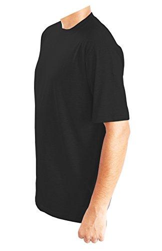 Generic Herren Tunika T-Shirt, Einfarbig Schwarz