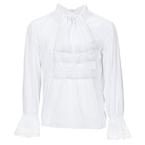 Widmann - Bluse mit Jabot für Erwachsene (Gruseliges Kostüm Nachthemd)