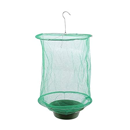YSINFOD Green Fly Traps Outdoor Ranch Fliegenfalle Effektivster Fliegenfänger Outdoor Fliegenfänger Mosquito Capture…