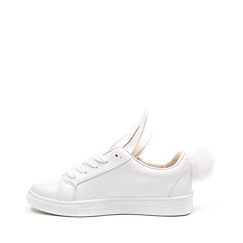 Ideal Shoes, Damen Sneaker Weiß