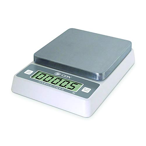 "CDN SD1114 Pro Accurate Digital Portion Control Scale - 11 lb, 1.75"" Height, 7.9"" Width, 5.9"" Length"