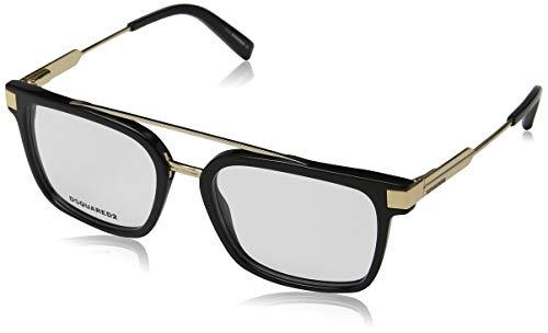 Dsquared2 dq5262 occhiali da sole, (nero lucido), 54.0 unisex-adulto