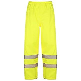 StandSafe Alta Visibilidad Seguridad Trabajo Pantalones de Alta Vis Over Pantalones de Hi Viz Pantalones de Trabajo