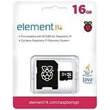 Raspberry carte mémoire microSDHC 16 Go avec NOOBS avec système d'exploitation pré-chargé pour Raspberry Pi (toutes versions)