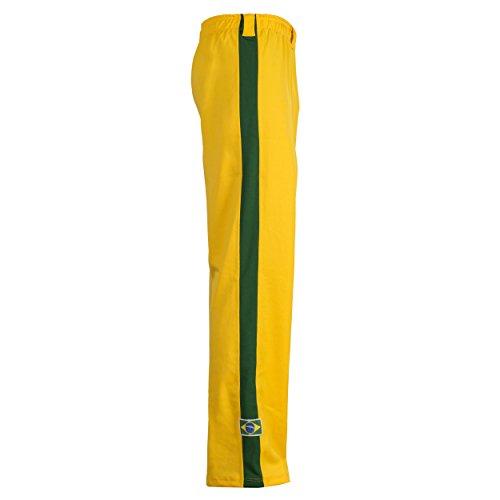traditionellen Brasilianische Flagge Capoeira Hose Unisex Gelb Abada Martial Arts Elastische Pants. Gelb