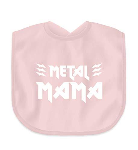 Metal Mama T-Shirt/Geschenk für Muttertag, Geburtstag, Weihnachten/Heavy Metal Fans - Baby Lätzchen -Einheitsgröße-Puder Rosa