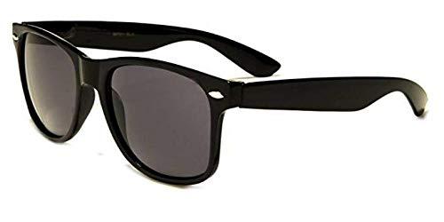 Frauen Vier Kostüm Fantastischen - Sonnenbrille Nerdbrille retro Art. 4026 - Boolavard® TM (Schwarz Tönung)