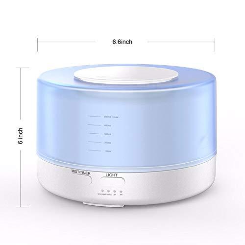 Homclo 500ML LED arom difusor aromatherapie Aroma humidificador ultrasónico purificador de Aire luftf eléctrico