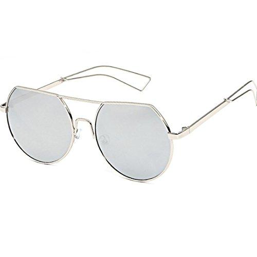 URSING Damen Herren UV400 Vintage Retro Sonnenbrille Autofahrer Anti-Reflexion Nachtsicht Brille Fahrbrille Sportsonnenbrille Chic Eyewear Strand Sonnenbrille Super Coole Women Sunglasses (E)