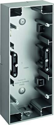 Hager K5-Box Montage Oberfläche 3Elemente Vertikal Aluminium