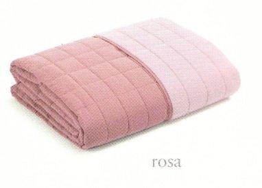 Copriletto trapuntino matrimoniale primavera estate microfibra originale caleffi modern bicolor (rosa)